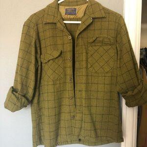 Vintage Pendleton Pure Virgin Wool Plaid Shirt